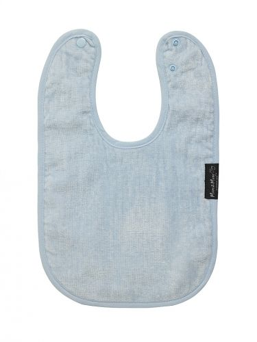 Baby Blue Standard Wonder Bib - Mum 2 Mum  Suitable from birth-3 yrs, super absorbent cotton toweling front with a water resistant nylon backing.