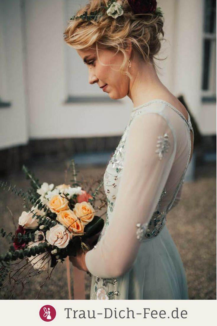 Bridal inspiration in sage and blueberry ... The slightly ...