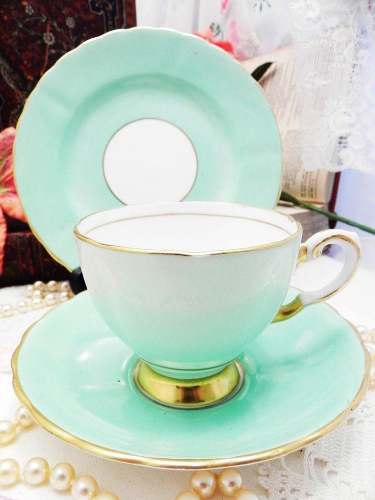 $42.93 Plant Tuscan Bone China Tea Set Trio English Afternoon Tea Party Wedding Table Bridal Shower Gift by FairlyRandom on Etsy https://www.etsy.com/listing/204598194/plant-tuscan-bone-china-tea-set-trio
