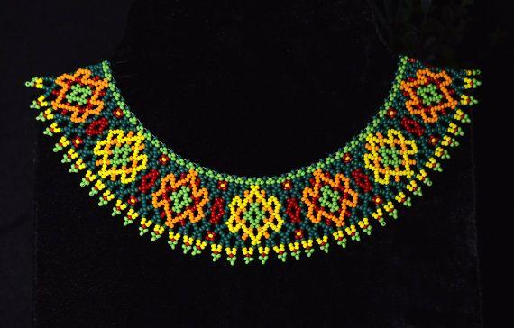 Collar necklace bead necklace jewelry by NadiyaKharchenko on Etsy