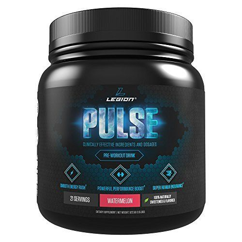 Legion Pulse Pre Workout Supplement Best Nitric Oxide Preworkout Drink For Men and Women to Boost Energy Endurance Creatine Free All Natural Safe Healthy Watermelon 21 Servings * You can get more details by clicking on the image.