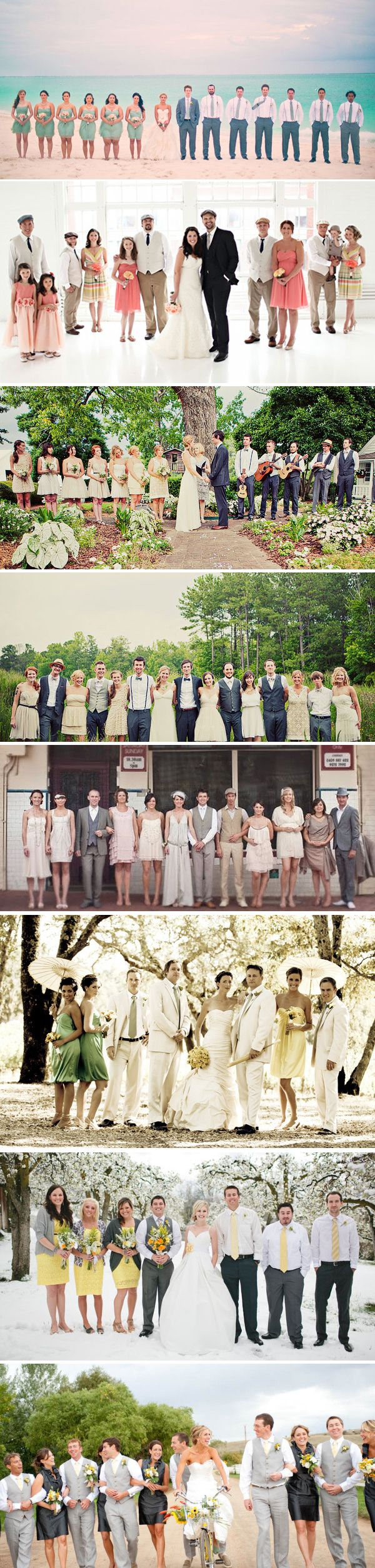 I especially like the second photo - 68 Fashion Inspiration for Bridesmaids and Groomsmen