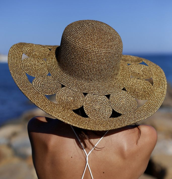 Just enough stylish detail- Summer hat