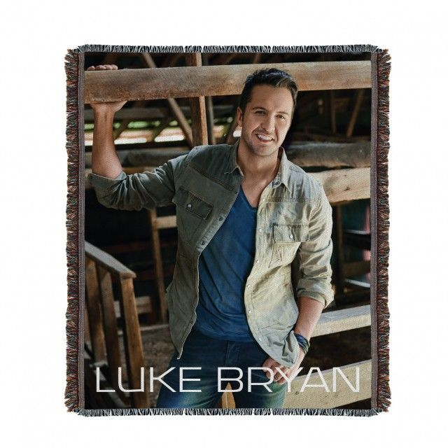 Luke Bryan Woven Throw Blanket