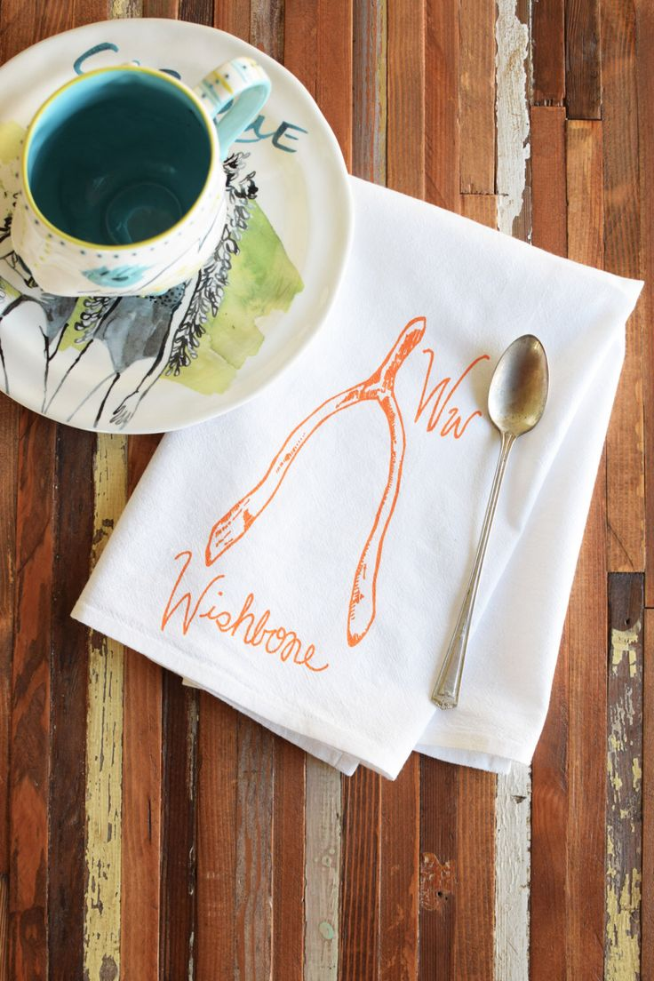 Cloth Napkins - Screen Printed Napkins - Cloth Napkin Set - Dinner Napkins - Printed Napkins - Handmade Cotton Napkins - Reusable - Wishbone by ohlittlerabbit on Etsy https://www.etsy.com/listing/254741833/cloth-napkins-screen-printed-napkins
