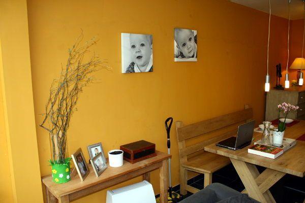 Slaapkamer 1 Muur Andere Kleur : Zelfgemaakte muurverf van gele oker