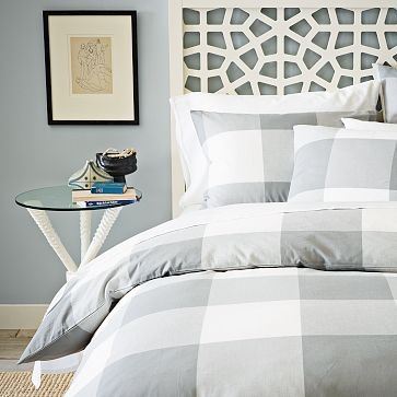 Morocco Headboard #WilliamsSonoma: Westelm, Decor, Headboards, Guest Bedroom, Duvet Covers, Gingham Duvet, Morocco Headboard, City Gingham, West Elm