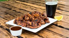 Root beer chicken wings-on th grill-Preheat your grill for a two zone cooking, having hot coals on…