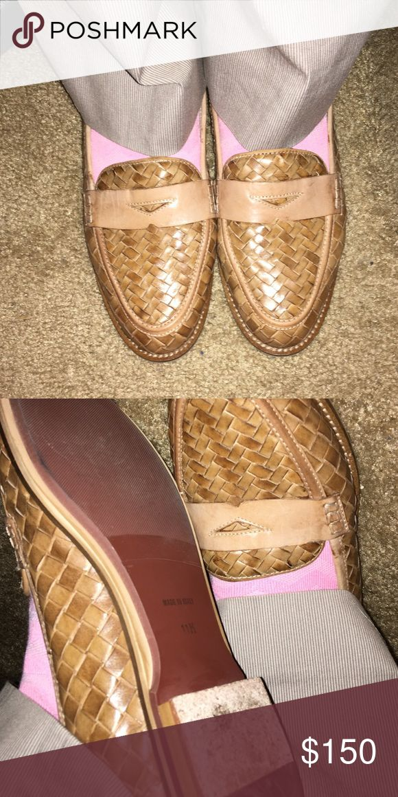Very good condition Sesto Meucci Made in Italy most leather weaving penny loafer size 11 worn 3 times Sesto Meucci found in Nordstrom make me an offer I can't refuse Nordstrom Shoes Flats & Loafers