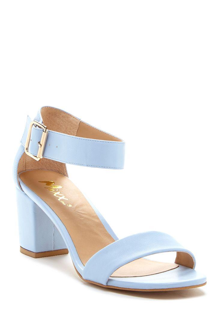 Blue Chunky Heel Shoes