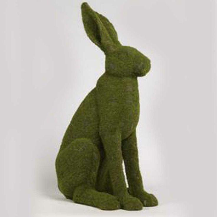 Large Green Moss Sitting Bunny