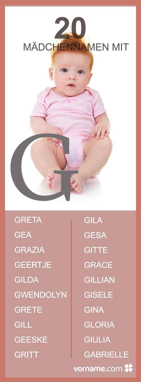Du magst die Namen Greta und Giulia und bist auf der Suche nach weiteren Mädchennamen, die mit einem G beginnen? Finde in unserer Liste den passenden Vornamen für Deine Tochter!