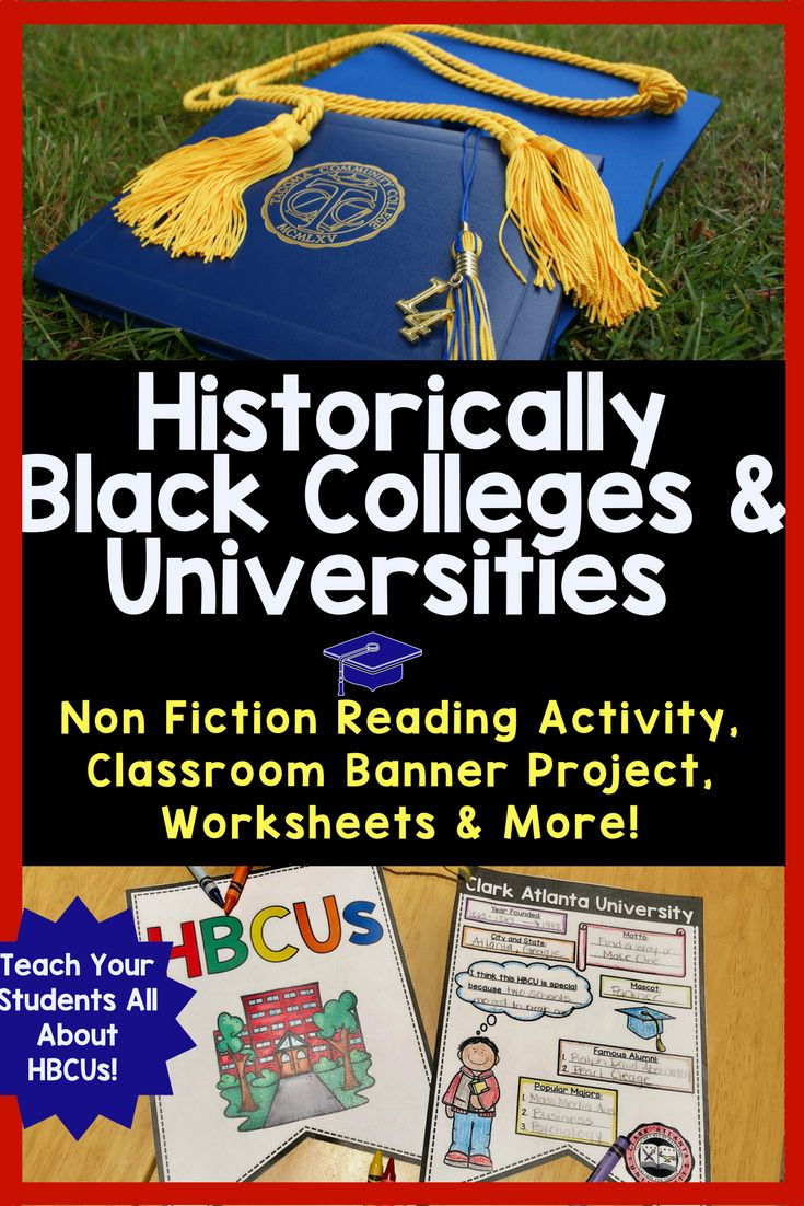 Your students will love these worksheets about HBCU History. Historically Black Colleges and Universities are an important part of American History. Whether it's Black History Month or not, teach your students about the legacy of schools, such as CAU, Morehouse, Spelman, Howard, FAMU, Hampton and more!