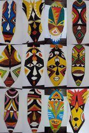 Resultado de imagen para mascaras africanas coloridas
