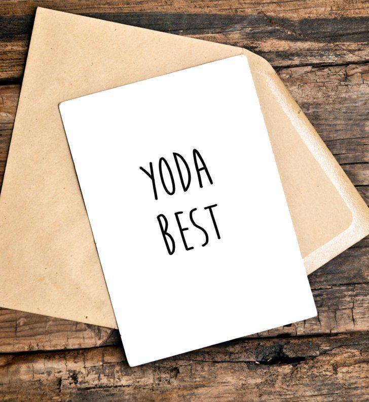 Yoda Best Valentines Birthday Card BoyfriendBoy Birthday