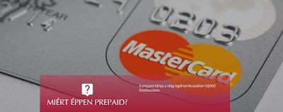 Internet pénz extra: Bankfüggetlen PrePaid Master Card kártya