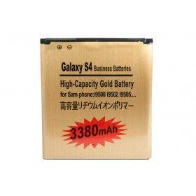 Batería Gold Extendida Samsung Galaxy S4 3380mAh Made in Japan http://www.tucargadorsolar.com/bateria-samsung-galaxy-s4-i9500-gold-3380-mah.html