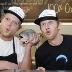Ocean Wise partners, Ryan Johnson & Dylan McCulloch from The Daily Catch (Tallulah/Vancouver Aquarium)