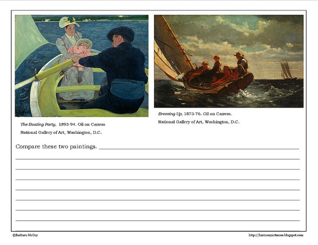 comparison of two artworks essay Hudson river school artwork  comparison essays tend to focus on similarities,  while contrast essays focus on differences realistically, either type of essay will  usually address both similarities and differences.