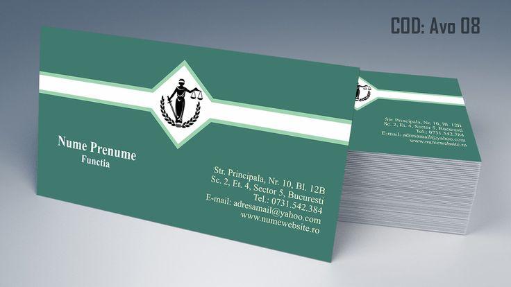 Carti de vizita avocat cod AVO 08 - modele online gratis, printate color fata sau fata-verso. Tiparim carti de vizita atat pentru cabinet de avocat cat si pentru cabinet notarial, juristi sau avocati stagiari. Lawyer, law, attorney business cards templates