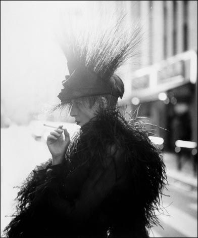 Isabella Blow wearing Philip Treacy. Photo by Steven Meisel. #fashion #icon