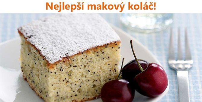 Výborný makový koláč, který zvládne každý!