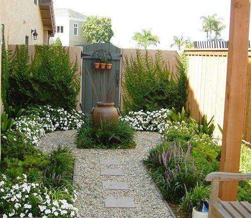 Простой Ландшафтный дизайн идеи для небольших дворах | Домашний сад Декор