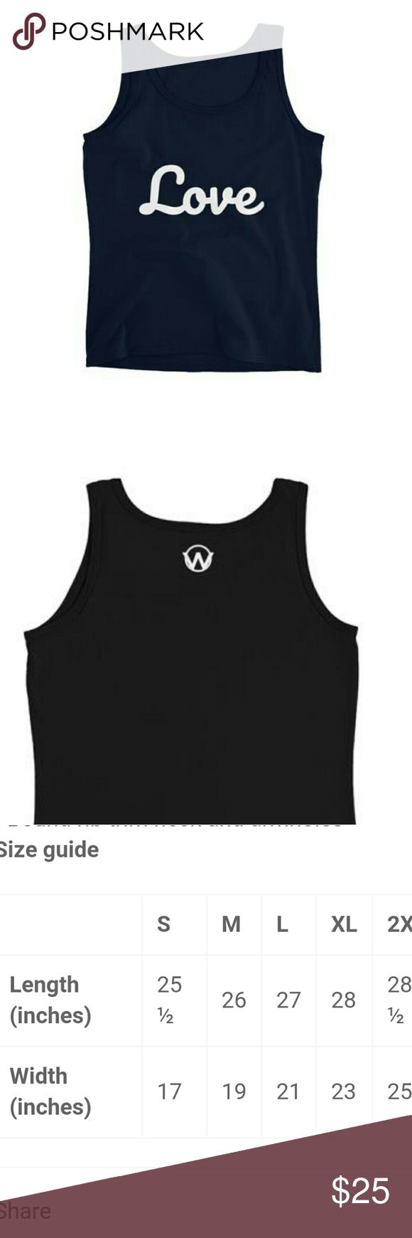 "Navy Blue HWA Tank Word Power HWA Ladies Tank  This lightweight tank top features wide shoulder bands.  Fitted Around The Bust It's light, cool and definitely a ""must-have"" in every woman's wardrobe.  • 100% pre-shrunk ring-spun cotton • Feminine silhouette  • Double-needle sleeve and bottom hem  • Bound rib trim neck and armholes  Honest Words Apparel Tops Tank Tops"