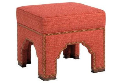 traditional, yet modern, mediterranean ottoman by Pearson