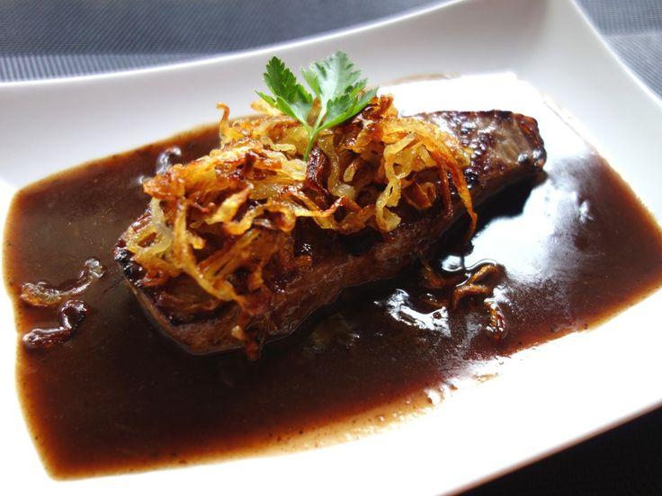 Roastbeef mit knusprigen Zwiebeln   – Vorspeisen & Hauptspeisen Pasta  Reis  Fleisch  Grillen Salate