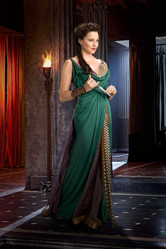 Lucy Lawless is Lucretia from Spartacus Vengeance