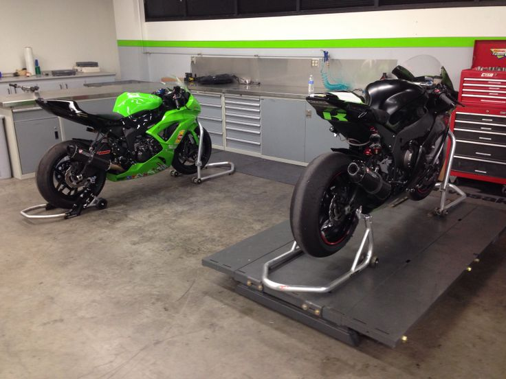 DDR Kawasaki 636 and my ZX-10 ready for the next track outing.