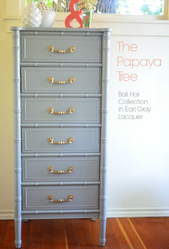 Made to Order High Gloss Chinoiserie Bamboo Asian by ThePapayaTree, $995.00