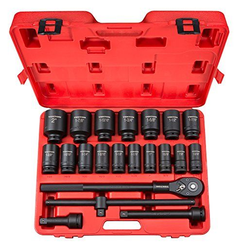 TEKTON 48995 3/4 in. Drive Deep Impact Socket Set, Inch, Cr-Mo, 7/8-Inch - 2-Inch, 22-Piece %SALE% #carscampus