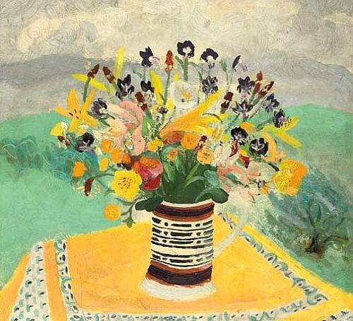 Winifred Nicholson Cumberland Flowers 1946 - still life quick heart