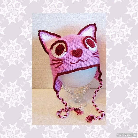 Детская шапка Мурка-гламурка шапочка-кошка для от Confetta на Etsy