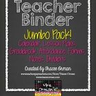 Teacher Binder Jumbo Pack: Gradebook, Forms, Lesson Plans, Calendar, and more! Completely editable  everything you need in a binder (or add to...