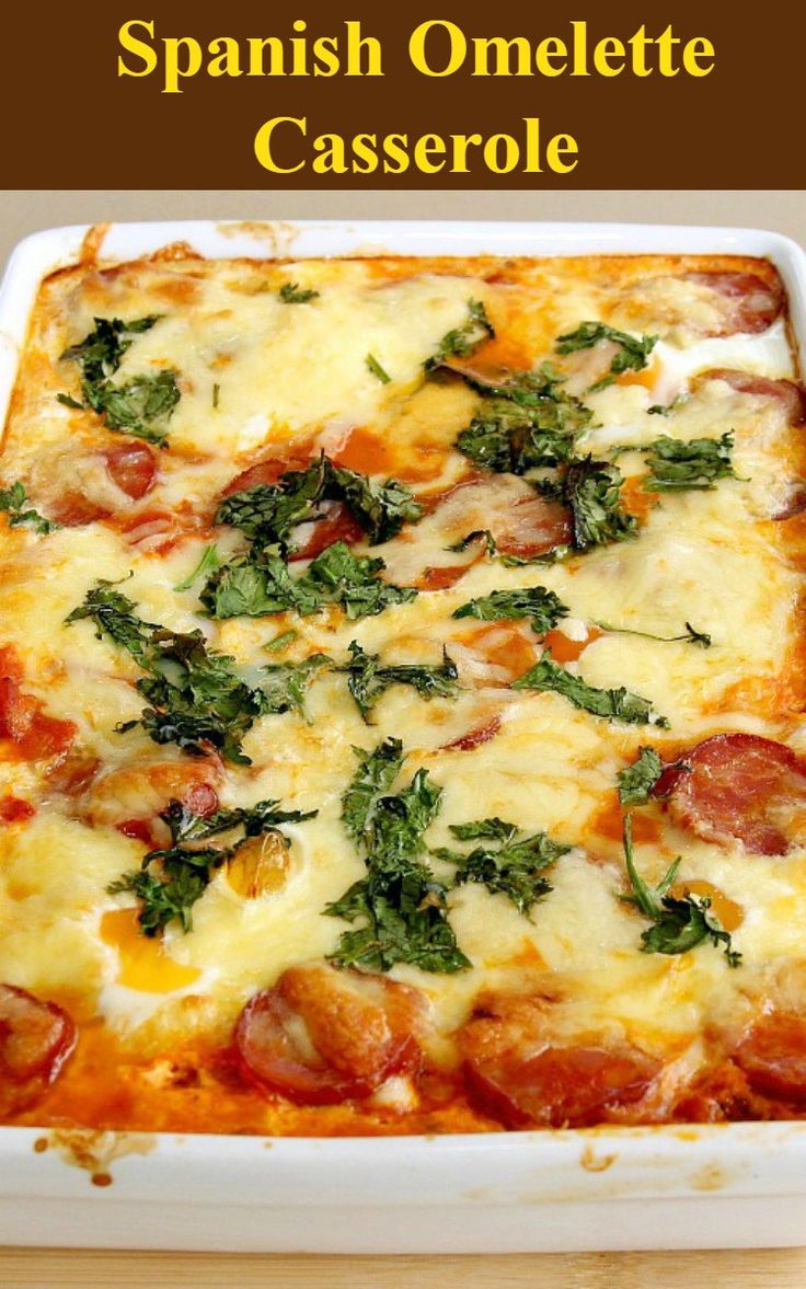 Spanish Tortilla With Broccoli, Chorizo, And Onion Recipe ...