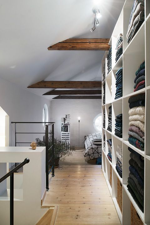 Attic bedroom with walk in closet