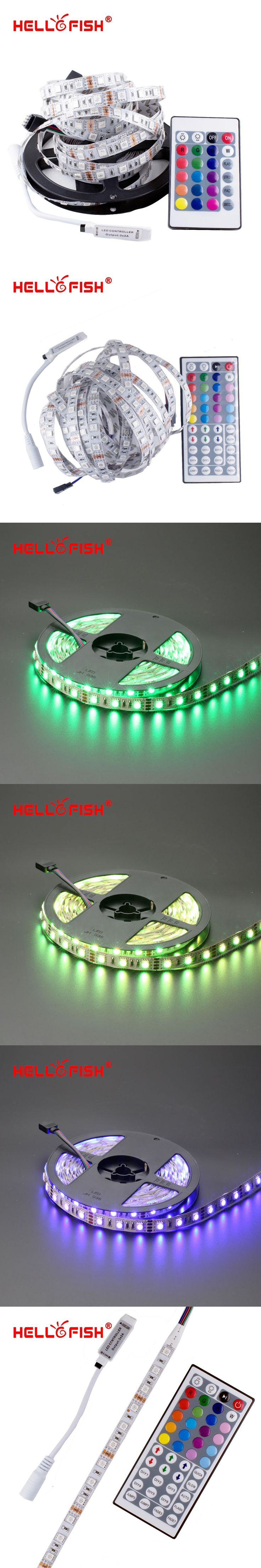 Hello Fish 5M Double Layer PCB 5050 RGB 300 LED Strip and 24 Key RGB Controller Kit