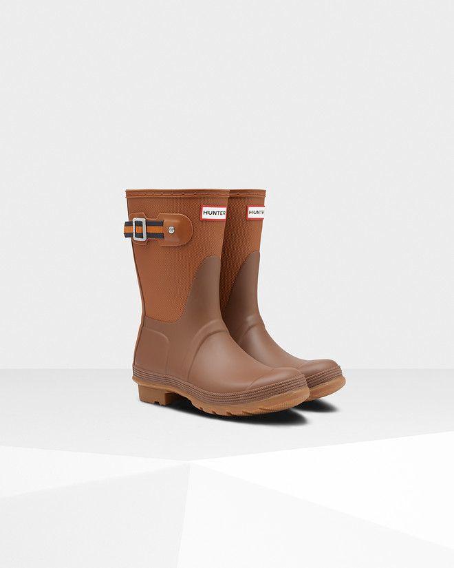 b08747956 Womens Brown Sissinghurst Short Rain Boots | Official Hunter Boots Store