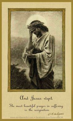"""""""Jesus wept!"""" John 11:35 (The shortest verse in the Bible and there is no 'AND'.)"""