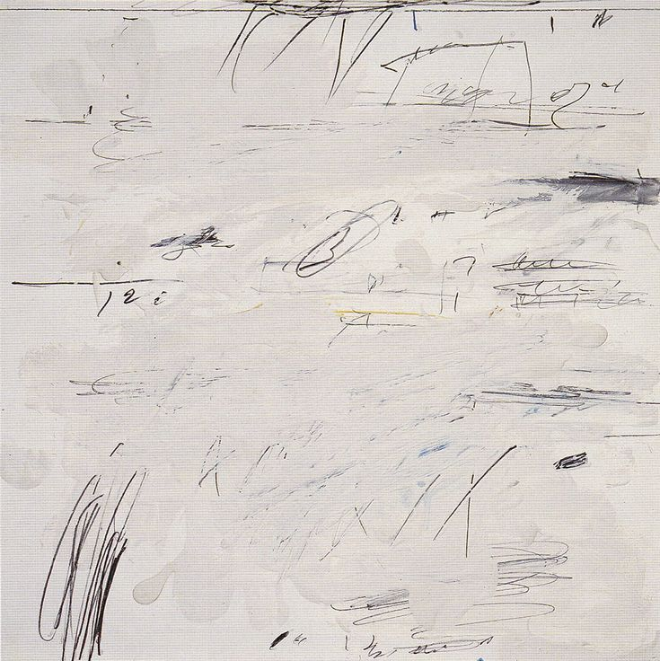 Cy Twombly. Poems to the Sea, Rome 1959. Sheet 16 of 24. Oil, crayon, pastel and coloured pencil on paper