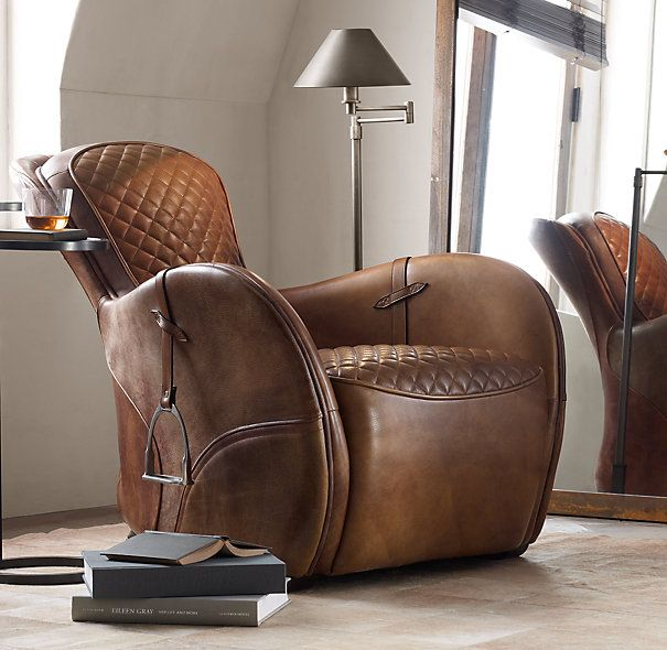 Equestrian Saddle Chair at Restoration Hardware. Love it!