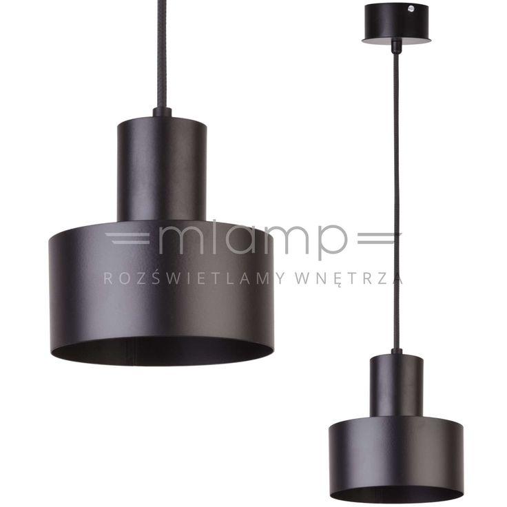 Metalowa LAMPA wisząca SIG 30897 okrągła OPRAWA zwis czarny