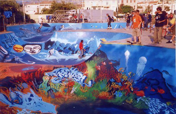 Marseille - Skatepark - plage de Bonneveine.