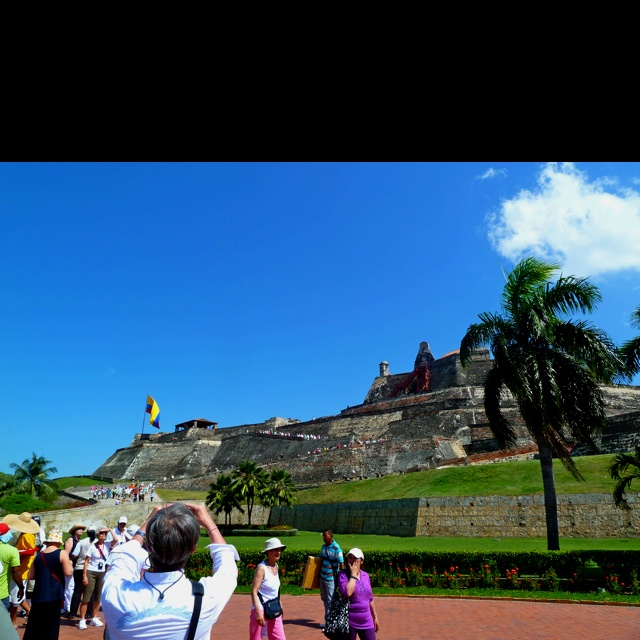 Historic fort in Cartegena, Colombia