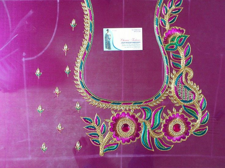 1000 Images About Maggam Aari Zardosi Embroidery Sari