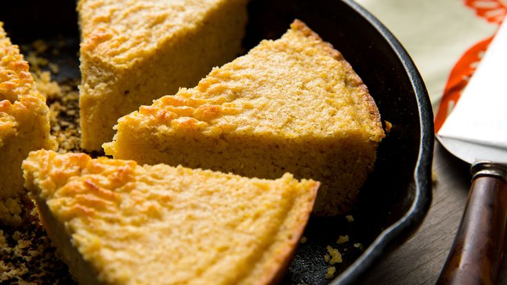 This lightly sweet cornbread has a crunchy, buttery crust, which comes from baking it in a hot skillet If you have a cast-iron pan, this is the time to use it The heavy, heat-retaining material will give you the darkest color (which equals the most flavor)