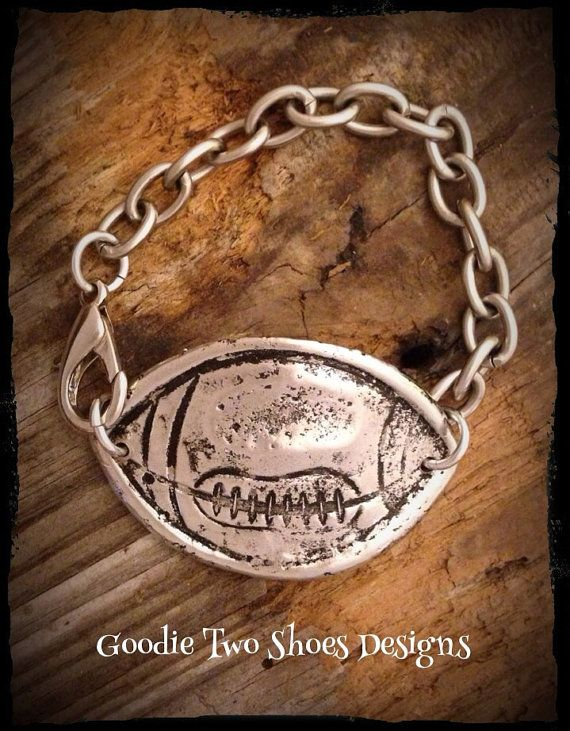 Football Bracelet, football mom, football jewelry, football on Etsy, $65.00